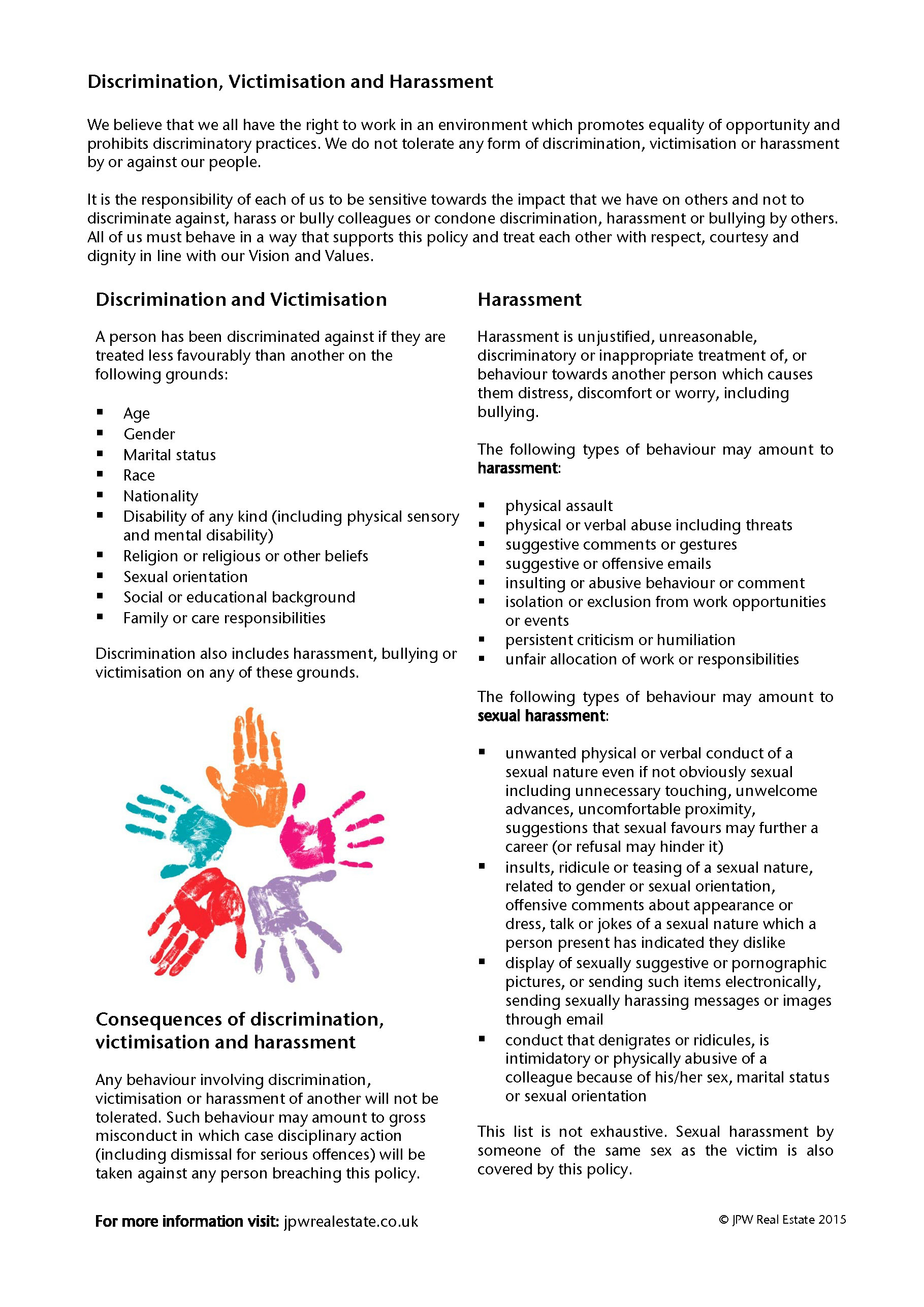 Jpw Equality Diversity Policy 2015 Page 3