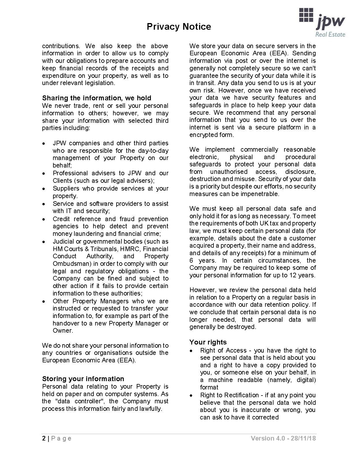 Privacy Notice V4 Page 2