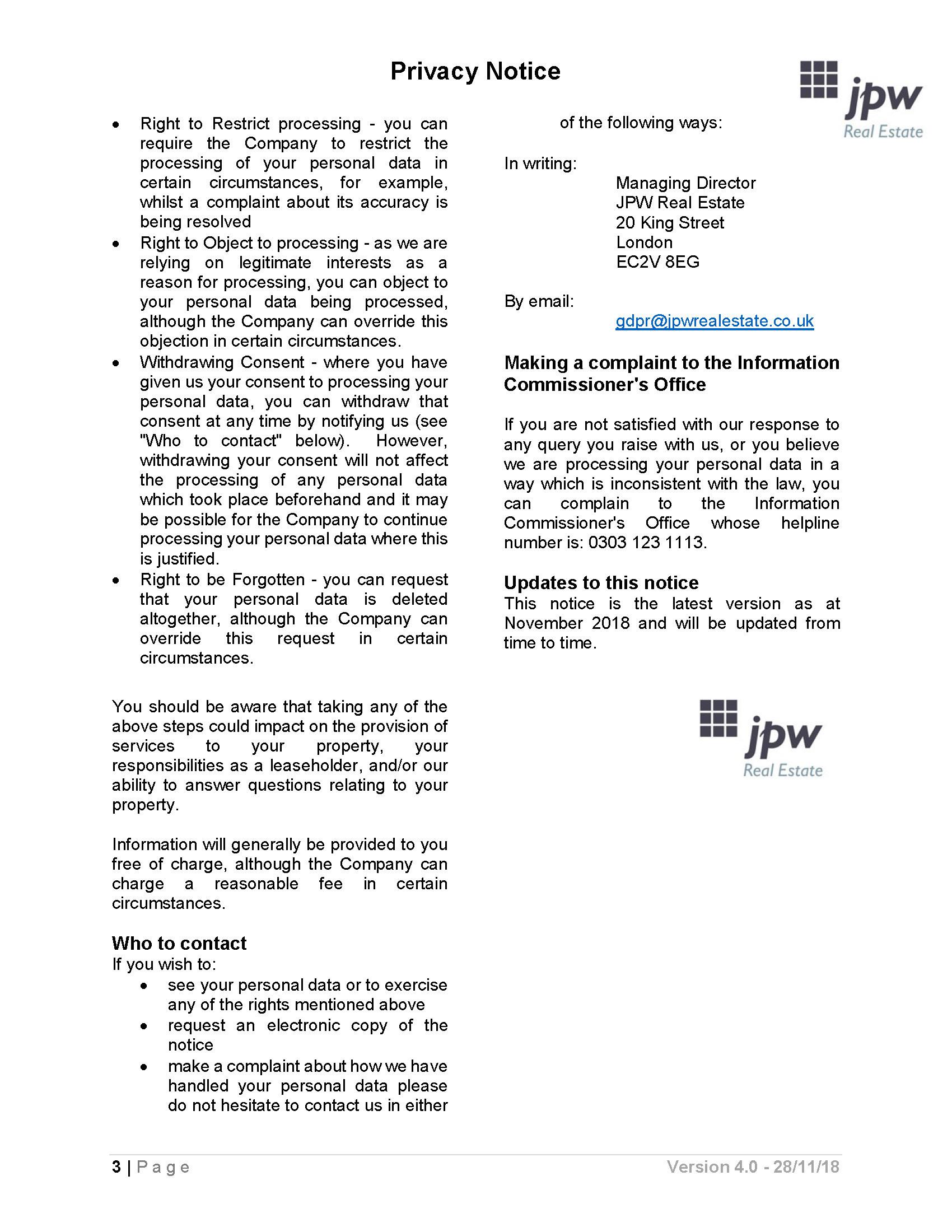 Privacy Notice V4 Page 3